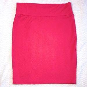 NWOT Lularoe Cassie Plus Size Rose Pencil Skirt